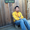 sit by the coop waiting the door shutdown